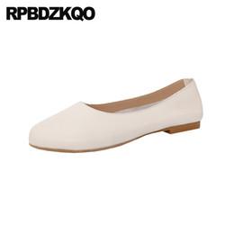 свернуть квартиры Скидка Женщины Складные Балетки Пожилые Дизайнер Дамы Скольжения На Обувь Круглый Носок Черный Китай Старинные 2019 Серый Китайский Белый Свернуть