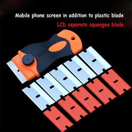Ferramenta oca on-line-Wozniak Tela LCD Remover O Telefone Ferramentas de Colagem OCA Faca De Plástico Separado Manutenção Lâmina 10 pcs lâmina