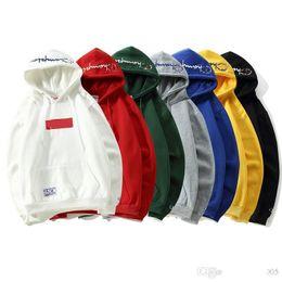 Tendência de moda bordados on-line-Nova marca designer de moletom com capuz Suprême conjunta Campeões bordados hoodeds tendência moda feminina camisola dos homens camisola de luxo clássico solto casual