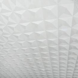 Carta da parati per camere d'albergo online-Soffitto Wallpaper 3D stereoscopico Sfondo bianco diamante Sala TV Hotel Papel De Parede Living Camera Tetto Wallpaper Rotolo