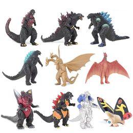 brinquedos de dinossauro pvc Desconto DHL 10 pcs definir Godzilla Figuras de Ação Monstros dinossauro segunda geração figuras LA139 PVC 3-6cm Crianças crianças brinquedo