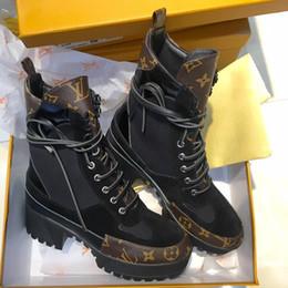Plataforma Laureate Desert Boot Diseñador Mujer Zapatos Marca de lujo Señoras Martin Botas Botines de cuero Botines de tacón grueso Botines de gran tamaño desde fabricantes