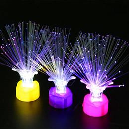 Colorido Rose Flower Fiber LED Lámpara de luz nocturna Niños Juguetes Decoración del hogar Valentine's Day Glow Party Supplies d22 desde fabricantes