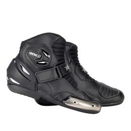 RYO Moto Bottes Hommes Bottes De Motocross Moto Chaussures De Moto Biker Moto Équipement De Protection Équitation Course Moto Chaussures Noir ? partir de fabricateur
