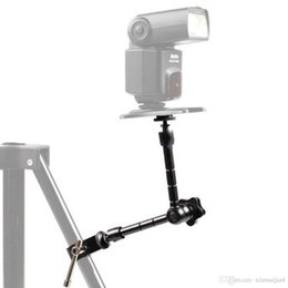 soportes de micrófono led Rebajas 11 '' Articulate Magic Arm + Super Clamp Crab Plier Clip para monitor de cámara