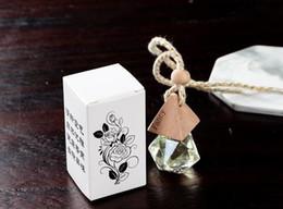 Argentina Venta al por mayor Ambientador Colgante del coche Difusor de cristal vacío Perfume Botella de perfume Regalo del coche colgar decoración Diamante Forma tapa de madera Suministro