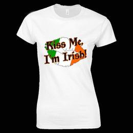 bandierine irlandesi Sconti St Patricks Day T Shirt me im irish FLAG Shamrock Paddys Day Uomo Donna bambino Nuovo T Shirt Divertente Top Tee Nuovo