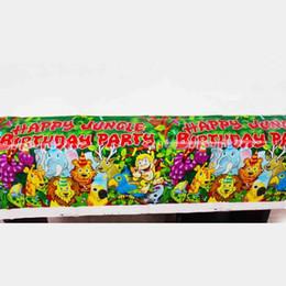 Anniversaire des animaux de la jungle en Ligne-1 PCS Fête D'anniversaire Enfants Faveurs Jungle Animaux Thème Nappe En Plastique Baby Shower Party Lion Nappe Décoration Fournitures