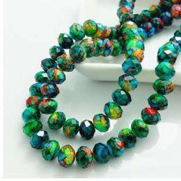 remendos de animais bordados por atacado Desconto Moda Cores Rondelle Vidro Cristal Facetado Solto Spacer Beads DIY 4mm 6mm 8mm HB690