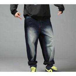 calça jeans novos Desconto Novo Hip Hop Baggy Jeans Mens Denim Hip hop Calças Soltas Rap Jeans Para O Menino Rapper Moda Plus Size 30-46