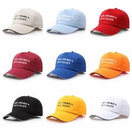 568fce584b43f 9styles Make America great again gorras de béisbol carta impresa Trump  sombreros de verano sombreros para el sol pintura tenis hip hop sombrero  FFA1722
