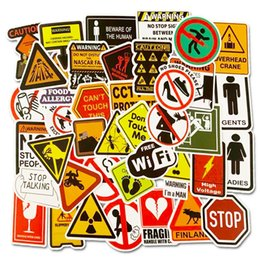 signs for cars Coupons - Warning Stickers Danger Banning Signs Reminder Waterproof Decal PVC Sticker for Laptop Motorcycle Luggage Snowboard Car