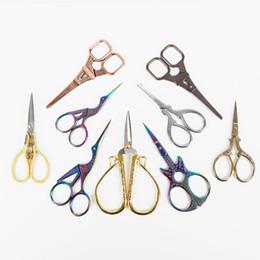 I mestieri d'epoca fanno online-Forbici in acciaio inox European Retro Classic Vintage Craft Cucire Crane Tailor Scissor Artigianato fai da te gioielli fare risultati