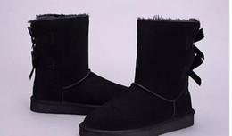 Chaussures de designer australien Style Bailey Bowtie Femmes Bottes De Neige Retour Bottes En Cuir D'hiver Marque luxe femmes chaussures taille 3-13 ? partir de fabricateur
