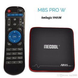 Argentina MECOOL M8S PRO W Android 7.1 TV Box Box Amlogic S905W Quad Core 2 GB de RAM DDR3 de 16 GB Wi-Fi Smart TV Top Box Suministro