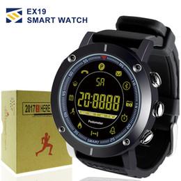 Sms relógio de pulso on-line-2018 EX19 relógio inteligente 5ATM natação à prova d 'água Chamada Alerta SMS Pedômetro cronômetro rastreador de fitness Smartwatch Relógio de Pulso para IOS Android iphone