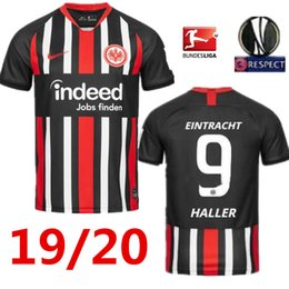 Free Shipping 2019 2020 Eintracht Frankfurt SOW soccer jersey home away 18 19 20 Frankfurt Europa League HALLER JOVIC REBIC football shirts de Fornecedores de cidade orlando kaká roxo
