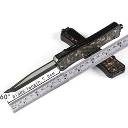 2019 boligrafo táctico MICRO - TECH Cuchillo automático de camuflaje de diamante UTX-70 440 MT cuchillo de acción cuchillos de corte táctico Cuchillos plegables Cuchillos de bolsillo UTX A07