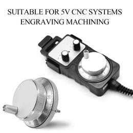 Generador electronico online-Profesional 60mm DC 5V CNC Pulser Handwheel 100 Manual Pluse Generator Hand Wheel Machine Rotary Encoder Electronic 6 Pines
