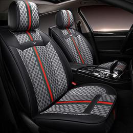 Toyota rav4 крышка автомобиля онлайн-2020 Новый роскошный PU автомобиля чехлы для сидений Toyota Corolla Седан Camry Rav4 Auris Prius Yalis Avensis Luxury Кожа PU автомобилей крышки