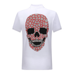 Yeni moda Alman marka tasarımcısı erkek yaz POLO gömlek erkek erkek PP sıcak sondaj Kafatası baskılı POLOT pamuk POLO gömlek nereden
