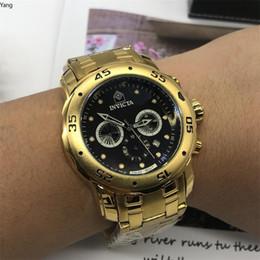 2019 ленточные часы Большой циферблат Инвикта весь дополнительный циферблат хронограф роскошные часы мужчины часы лучший бренд силиконовой лентой Кварцевые наручные часы мужчин подарок кварцевые ЦФО Р дешево ленточные часы