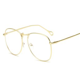 514a114120e Vintage Clear Lens Fake Glasses Men Women Reading Eyeglasses Frame Retro  Gold Round Myopia Spectacles Frames Lunettes