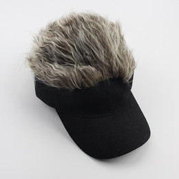 men spiked hat Coupons - Newly 1 Pcs Wig Baseball Hat Sun Visor Cap with Spiked Hair Winter Warm Outdoor Caps BN99