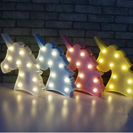 Mignon Licorne Tête Led Night Light Animal Chapiteau Lampes Sur Le Mur Pour Les Enfants Parti Chambre Décor Enfants Cadeaux ? partir de fabricateur