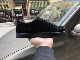 Wholesale Zapatos de diseño Pantalones de vestir de cuero de las zapatillas de deporte de las zapatillas de deporte de cristal de la boda de la parte inferior de corte de ante de corte bajo rojo