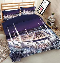 california king bettwäsche setzt Rabatt California King Luxus 3D-Bettwäsche-Sets Königin Architekturmuster Twin Full Bettlaken Spannbetttuch Stil Bettbezug Bett