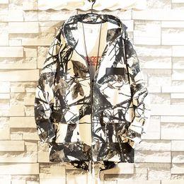 japanischer graben Rabatt Harajuku Japanese Trench Coats Männer Hip Hop-Jacken-Sweatshirt Streetwindjacke mit Kapuze Oberbekleidung Männer