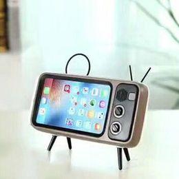 Reloj de la computadora online-Peterhot PTH800 Reproduce el teléfono móvil y los relojes Ordenador Bluetooth Altavoz Bajo TV Altavoz Amplificador de teléfono móvil Exterior Pequeño Sonido