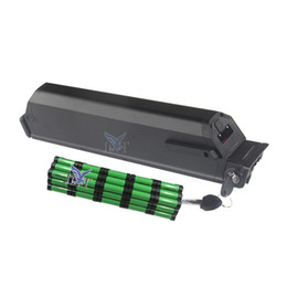 Литиевые батареи онлайн-Короткий размер 440 мм Plus reention dorado батарея 48 В 14ah литий-ионный 18650 элемент 500 Вт 850 Вт 750 Вт 1000 Вт двигатель + 2A Зарядное устройство