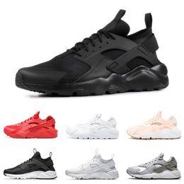online store f9743 06761 huarache 1.0 4.0 Herren Laufschuhe dreifach schwarz weiß gold rot Mode  huaraches Herren Trainer Frauen Sport Sneaker zum Verkauf