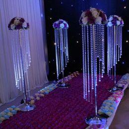Lustres de mesa on-line-Venda a granel cintilante cristal suprimentos clara guirlanda lustre bolo de casamento estande festa de aniversário decorações para os melhores centros de mesa