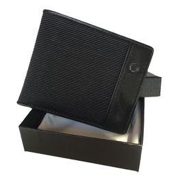 Stoff brieftaschen online-2020 neue heiße lederne Mappe der Männer deutsche Markendesigner schwarze Geldbörse kurze Tasche beliebter Stoff ID-Kartenhalter Zertifikat-Set mit Box