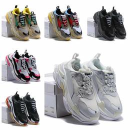 venda de botas de futebol frete grátis Desconto 2019 new Desvende Novo Triplo S Sapatilhas, Alta Moda Spec Formadores, Sapatos para Homens, Running Man Shoe, homens Tripe-S Sapatilhas de Treinamento Sapatos