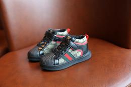 2019 kind knie hohe gummistiefel Kinder Shell Head Schuhe 2019 Herbst und Winter neue High-Top-Sneakers für Jungen Mode Kinder Freizeitschuhe