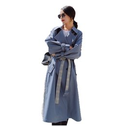Deutschland South Korea spring new popular plaid women's windbreaker fashion long section over the knee thin section trench coat W145 Versorgung
