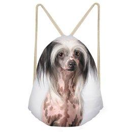 2019 bolsa china china Cresta china del perro precioso de impresión en 3D de impresión multifunción mujer bolsos de lazo de tapa blanda mochilas Muchacha de la playa BagsSumka rebajas bolsa china china