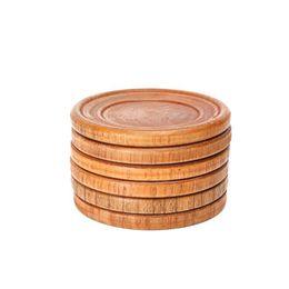 2019 cottura a caldo Pastiglie di cucina in legno naturale Pallet rotondo Bicchiere di vino Pad Pad Bevande fredde sottobicchieri Mug Tovagliette di cottura QW9678