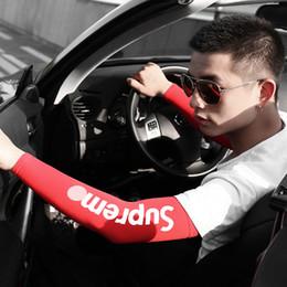 Летние защитные перчатки онлайн-Открытый вождение лето солнцезащитный крем рукава для вождения прохладный лед шелк грелки эластичные длинные перчатки длинные перчатки Солнце УФ-защита рука