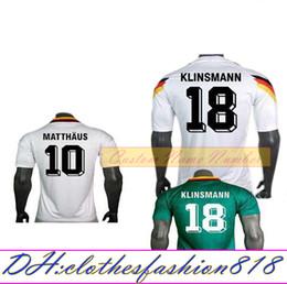 93e452d0507 1990 1994 1988 Germany Retro version VINTAGE CLASSIC Soccer Jersey  KLINSMANN 18 Matthias 10 home away 2017 2018 shirts JERSEY