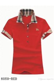 Blusas de moda para mujer online-Polos para mujer moda casual camisa polo para mujer camisa polo 8 colores s-2XL Camisetas blusa Mujer camiseta A012