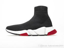 logo casual schuhe männer Rabatt Socken Schuhe Damen Herren Designer Sneaker Speed Trainer Sneakers Schwarz Rot Oreo Speed Trainer Logo Print Casual Weiß Booots