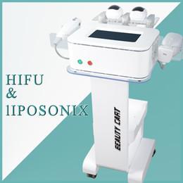 Equipos de belleza facial delgada online-2 en 1 hifu Beauty Equipment hifu lifting facial eliminación de arrugas anti envejecimiento hifu liposonix cuerpo adelgazante máquina