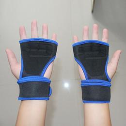 2019 guantes de apoyo para los dedos 1 Par Elástico de Muñeca Soporte Deportes Seguridad Poliéster Medio Dedo Guantes Hombres Lifting Entrenamiento Protección de Muñeca Media banda rebajas guantes de apoyo para los dedos