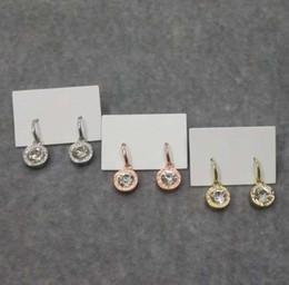Luxus Designer Ohrstecker Frauen Kristall Ohrringe frauen Ohrstecker Ohrring Gold Silber Schmuck Weiblichen Accessoires Geschenk großhandel von Fabrikanten