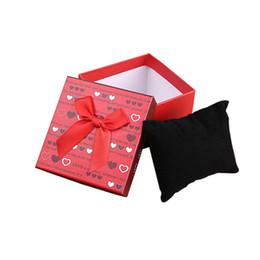 Collection Carrée Ruban De Rangement Noeud Arc Noeud Montre Bracelet Organisateur Boîte Cas Montre En Papier Cadeaux Boîtes Boîte À Bijoux Titulaire ? partir de fabricateur